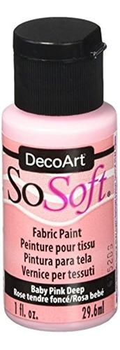 Pintura Acrílica De Tela 1 Onza Color Rosa