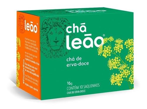 Imagem 1 de 1 de Chá Leão Ervas - Erva-doce - 10 Sachês