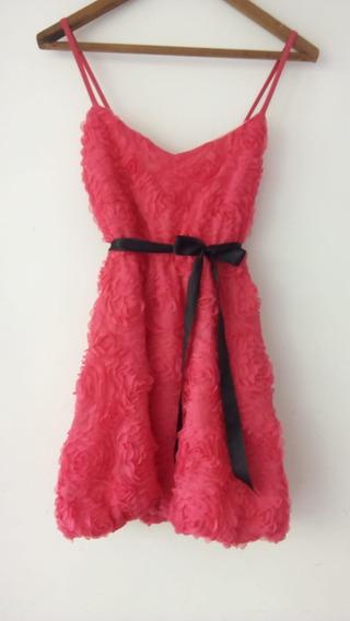 Vestido De Fiesta Flores Tul 3d