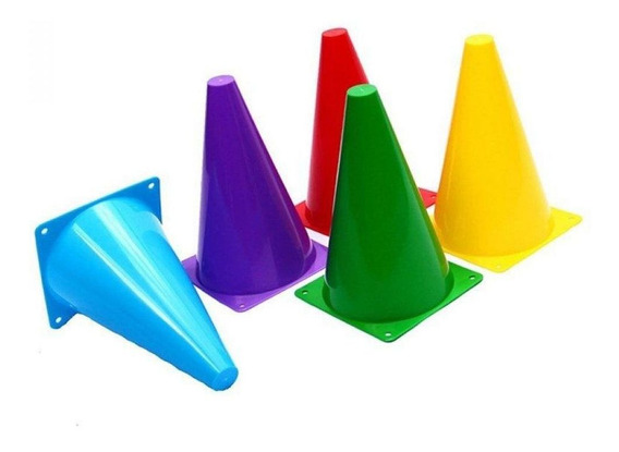 Kit Com 5 Cones De Agilidade 23cm Coloridos Ahead Sports