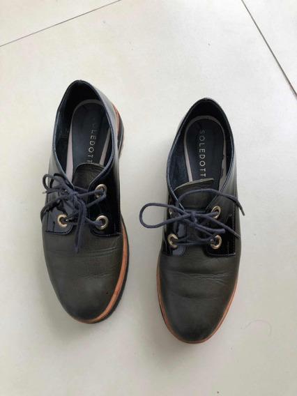 Zapato Acordonado Sole Dotti. Talle 39. Usado