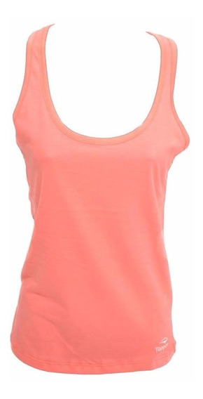 Musculosa Topper Tank Top Básico Mujer Coral