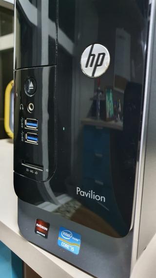 Desktop Hp Pavilion Slimline S5-1450br I5 3470 Ssd Windows10
