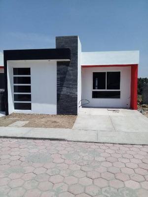 Casa Minimalista En Venta En San Damián Tlacocalpan, Tlaxcala