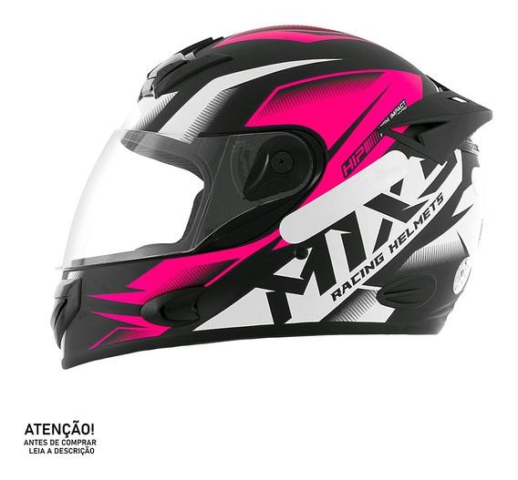 Capacete De Moto Mixs Mx2 Storm Brilhante Fechado