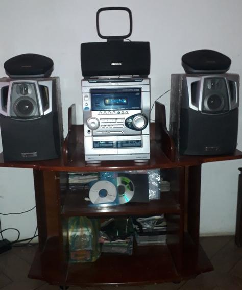 Equipo De Sonido - Home Teather Aiwa Con Control Y Su Mesa