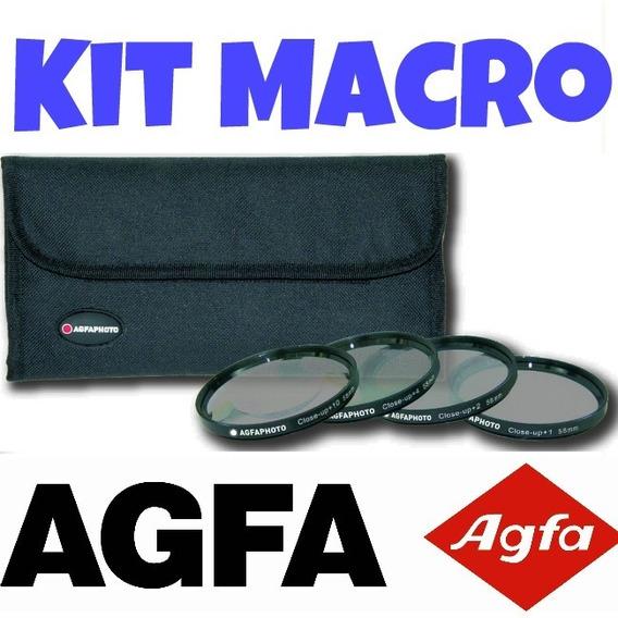 Kit Macro Close-up Agfa 52mm 55mm 58mm (qualidade Absoluta)