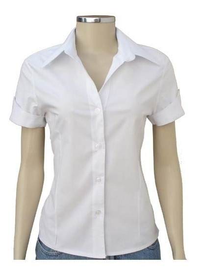 Camisa Feminina Promoção Modelo Slim Manga Curta Kit 5