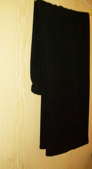 Pantalón De Vestir Poliester Negro, Recto.
