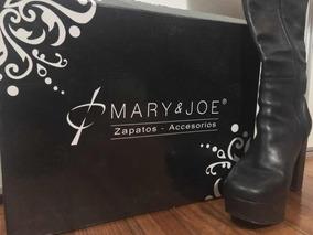 Botas Caña Alta Cuero Marca Mary & Joe