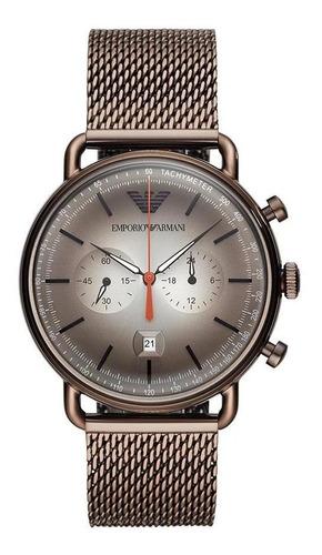 Relógio Masculino Emporio Armani Aviator Grafite Ar11169/1cn
