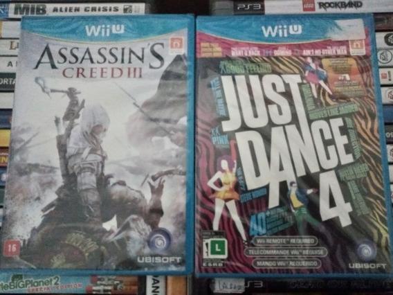 Just Dance 4 + Assassins Creed 3 Wiiu Novos Lacrados Wiiu