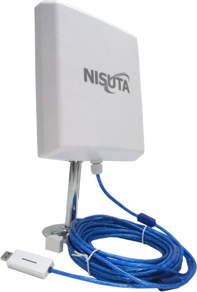 Antena Wifi Cpe330 Nisuta Cable Usb 10m 300mbps Pc