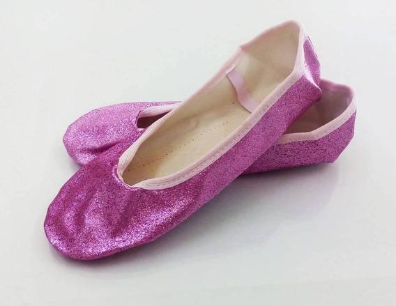 Sapatilha 1/2 Ponta Ballet Modelo Korino Com Glitter -