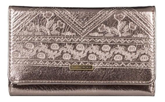 Billetera De Mujer Roxy Juno Metal 3201128002 Cdo