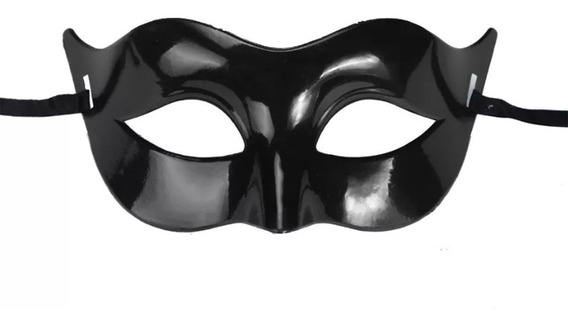 Antifaz Blanco Negro Halloween Disfraz Accesorio Caballero