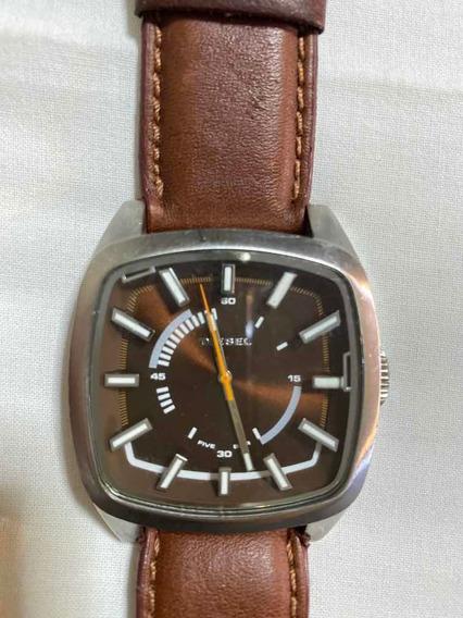 Relógio Diesel Dz 1528 Couro Marrom