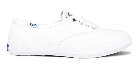 Tênis Keds Branco Lona Champion Woman Canvas - Kd100256