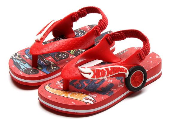 Chinelo Ipanema Infantil Ipanema Hot Wheels Baby - Vermelho