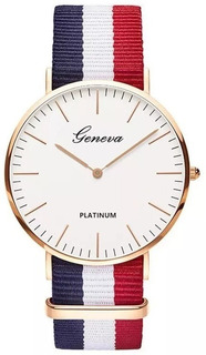 Reloj Francia Geneva Mujer Hombre Moda Sin Género + Estuche