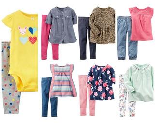 Set 2 Piezas Nena Carters Talle 9m Camisola Body Buzo Remera Calza