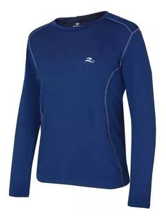 Camisa Térmica Compressão Realtex Proteção Solar Uv Azul Ml