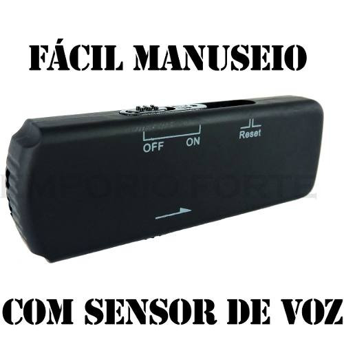 Mini Gravador De Vox Pen Drive Voz Espionagem Equipamentos
