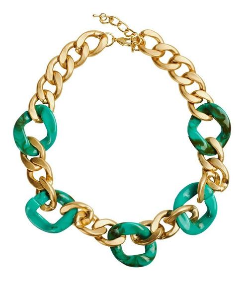 Luckyly Collares De Mujer, Collar Moderno Clara Oro Turquesa