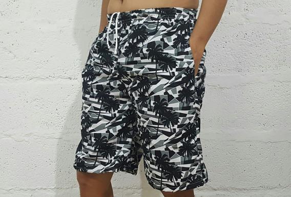 Pantalonetas Hawaianas Hombre Baño Y Playa