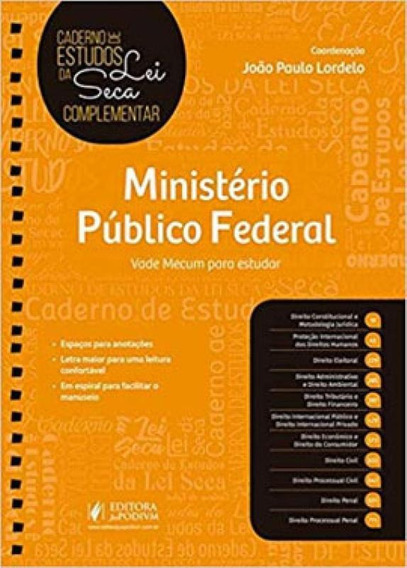 Ministério Público Federal - Caderno De Estudos Da Lei Sec