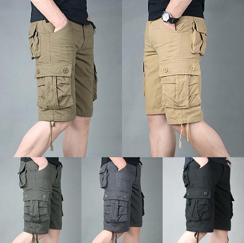 Pantalones Cortos Militares Para Hombre De Combate De Trab Mercado Libre