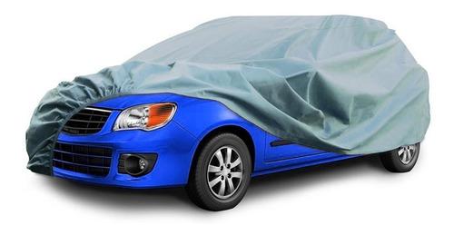 Funda Cubre Auto Plateado Polyester Talle Xxl