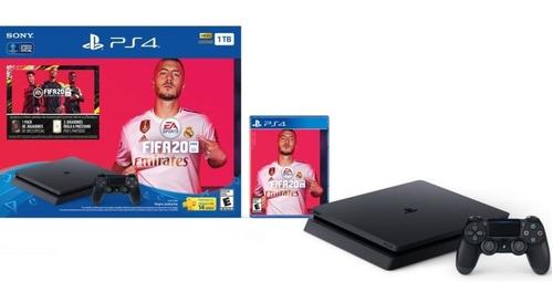 Consola Ps4 Cuh-2215b + Fifa 20 1tb Sony Playstation