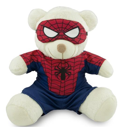 Ursinho Super Herói Fantasia Homem Aranha 25cm