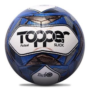 Bola De Futebol Oficial Futsal Topper Slick Ii Azul