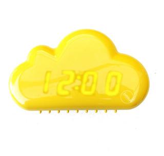 Reloj Despertador Digital Nube Luz Led Sensor Sonido
