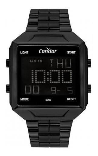 Relógio Quadrado Digital Preto , Condor Cobj2649ad/4p