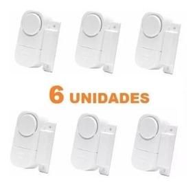 6 Alarmes Residencial Comercial Sensor Para Janelas E Portas