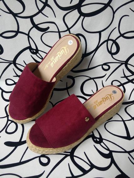 Zapatos Vinotinto Sandalia Cocuiza A La Moda Envío Gratis