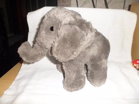 Elefante De Pelucia Usado 23 Cm