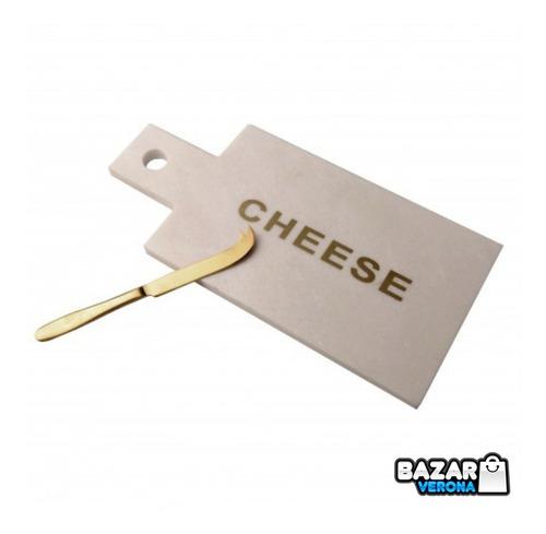 Imagen 1 de 3 de Tabla Nonfork® Para Quesos En Marmol Con Cuchillo