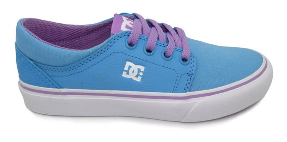 Tenis Dc Shoes Youth Trase Se Adgs300065 Bwt Blue Azul Piel
