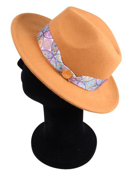 Chapéu Fedora Caramelo Premium Coleção Festivais Aba 6,5cm