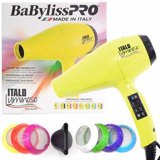 Secador De Pelo Babyliss Pro Italo Luminoso 2000w Amarillo