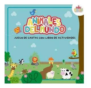 Juego De Cartas + Libro D Actividades Animales Del Mundo X50