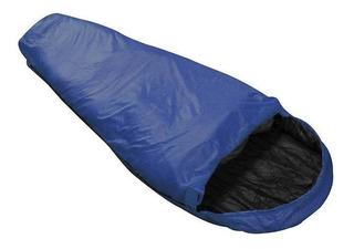 Saco De Dormir Micron 5°c À 8°c Azul E Preto - Nautika,