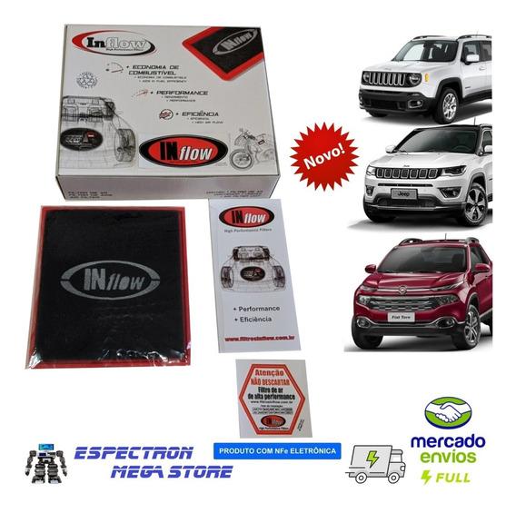 Filtro De Ar Inflow Jeep Renegade Compass Fiat Toro Hpf8695