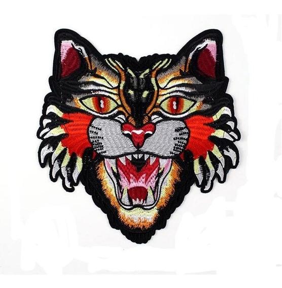 Aplicaciòn Parche Bordado Lentejuela Tigre Decora Ropa 21x21