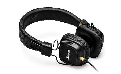 Headphone Marshall Major Ii Preto Soquete Duplo P2