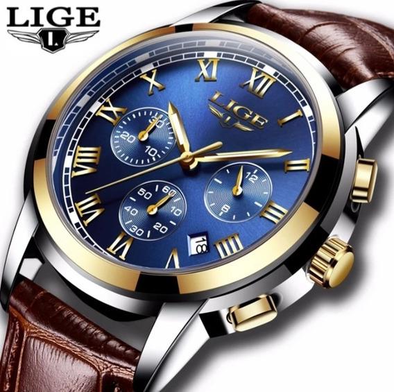 Relógio Masculino Promoção Couro Original+brinde C.112